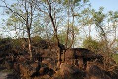 Sitio del patrimonio mundial de Bhimbetka- Fotos de archivo