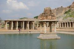Sitio del patrimonio mundial de la UNESCO del bazar de Hampi Imagenes de archivo