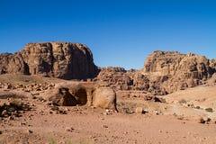 Sitio del patrimonio mundial de la UNESCO del Petra, de Jordania y una de las nuevas 7 maravillas del mundo. Foto de archivo