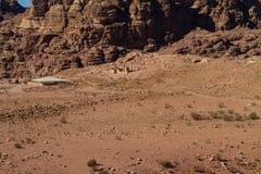 Sitio del patrimonio mundial de la UNESCO del Petra, de Jordania y una de las nuevas 7 maravillas del mundo. Imagenes de archivo