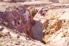 Sitio del patrimonio mundial de la UNESCO del Petra, de Jordania y una de las nuevas 7 maravillas del mundo. Fotos de archivo libres de regalías