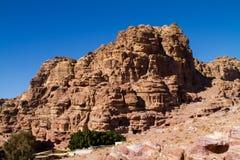 Sitio del patrimonio mundial de la UNESCO del Petra, de Jordania y una de las nuevas 7 maravillas del mundo. Imagen de archivo libre de regalías
