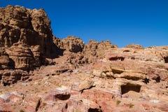 Sitio del patrimonio mundial de la UNESCO del Petra, de Jordania y una de las nuevas 7 maravillas del mundo. Imagen de archivo