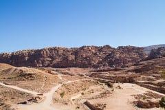Sitio del patrimonio mundial de la UNESCO del Petra, de Jordania y una de las nuevas 7 maravillas del mundo. Fotografía de archivo