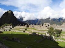 Sitio del patrimonio mundial de la UNESCO de Perú Suramérica del picchu de Machu foto de archivo