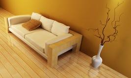 Sitio del salón con el sofá imagen de archivo