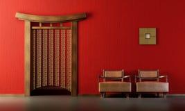Sitio del salón del estilo chino ilustración del vector