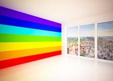 Sitio del salón en colores del arco iris Foto de archivo libre de regalías