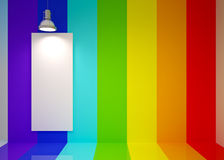 Sitio del salón en colores del arco iris Imagenes de archivo