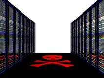 Sitio del servidor en datacenter Foto de archivo