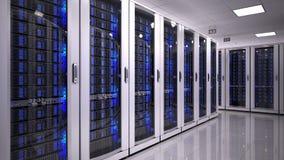 Sitio del servidor en datacenter Imágenes de archivo libres de regalías