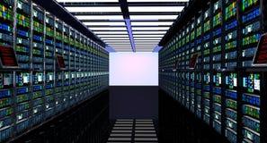 Sitio del servidor en datacenter stock de ilustración