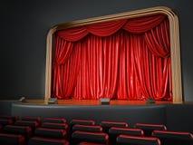Sitio del teatro con asientos rojos ilustración 3D libre illustration