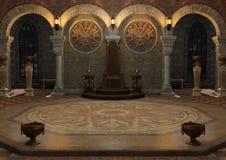 sitio del trono de la representación 3D imagen de archivo libre de regalías
