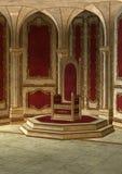 Sitio del trono del cuento de hadas Fotos de archivo libres de regalías