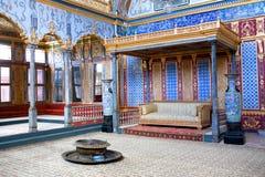 Sitio del trono dentro de la sección del harén del palacio de Topkapi, Estambul Fotos de archivo libres de regalías
