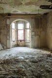 Sitio destruido, abandonado en el edificio Foto de archivo