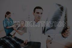 Sitio el hospitalizado del doctor de la rehabilitación del collage fotografía de archivo libre de regalías