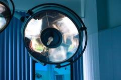 Sitio en funcionamiento de las lámparas quirúrgicas Fotografía de archivo libre de regalías