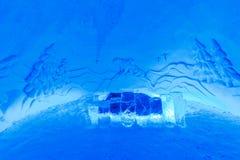 Sitio en hotel del hielo Foto de archivo