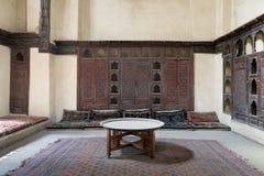 Sitio en la casa del EL Sehemy, una casa vieja de la era del otomano en El Cairo imagenes de archivo