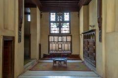 Sitio en la casa del EL Sehemy, una casa histórica de la vieja era del otomano en El Cairo islámico, construido en 1648, El Cairo foto de archivo