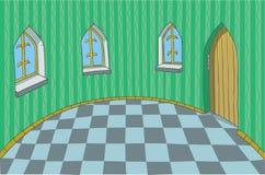 Sitio en un palacio fabuloso ilustración del vector