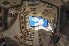 Sitio famoso en la ciudad de Lyon Imagenes de archivo