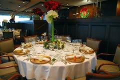 Sitio formal de Banqet de la cena de la Navidad foto de archivo libre de regalías