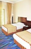 Sitio gemelo en un hotel Imagenes de archivo