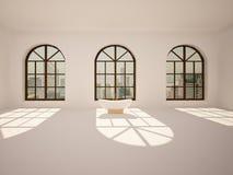 Sitio grande, vacío, brillante con la bañera Imagen de archivo libre de regalías