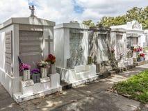 Sitio grave en el santo Louis La Fayette Cemetery No 1 Fotografía de archivo