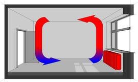 Sitio heated del radiador Imagen de archivo