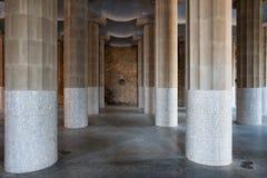 Sitio hipóstilo en el parque Guell Imagen de archivo libre de regalías