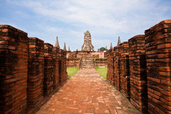 Sitio histórico de Ayuthaya Fotografía de archivo libre de regalías