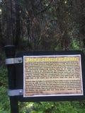 Sitio histórico del árbol chino de la ejecución en Idaho Fotos de archivo