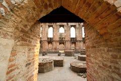 Sitio histórico del templo de Ayutthaya Foto de archivo