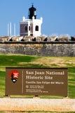 Sitio histórico nacional de San Juan - EL Morro Foto de archivo libre de regalías