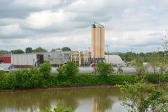 Sitio industrial fotografía de archivo