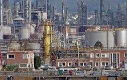 Sitio industrial en el río Seine Fotografía de archivo