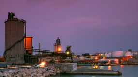 Sitio industrial en Pireo Foto de archivo libre de regalías