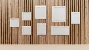 Sitio interior con diseño del marco de la foto en el ejemplo 3D libre illustration