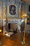Sitio interior del castillo francés del castillo de Cheverny Fotografía de archivo libre de regalías