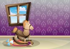 Sitio interior del niño del ejemplo del vector de la historieta con capas separadas Fotos de archivo libres de regalías