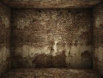 Sitio interior sucio del ladrillo fotografía de archivo