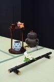 Sitio japonés de ceremonia de té Fotografía de archivo libre de regalías