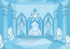 Sitio mágico del trono de la reina de la nieve imagen de archivo libre de regalías
