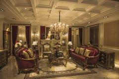 Sitio modelo de la sala de estar Fotografía de archivo libre de regalías