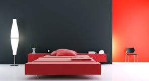 Sitio moderno de la cama Imagen de archivo libre de regalías