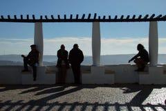 Sitio Nazare Portugal Foto de archivo libre de regalías